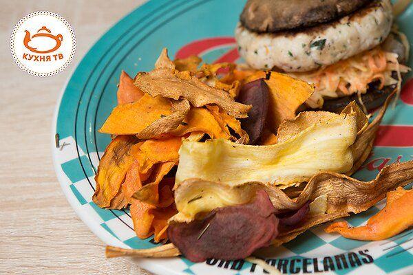 Овощные чипсы: пошаговый видеорецепт