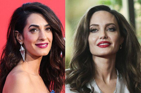 В Сети обсуждают ссору Анджелины Джоли и Амаль Клуни