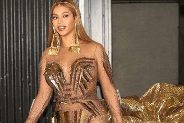Образ дня: Бейонсе в золотом платье