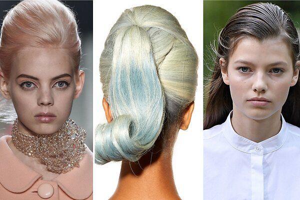 Мокрые волосы, пастель и укладка-яйцо: прически на Неделе моды в Лондоне