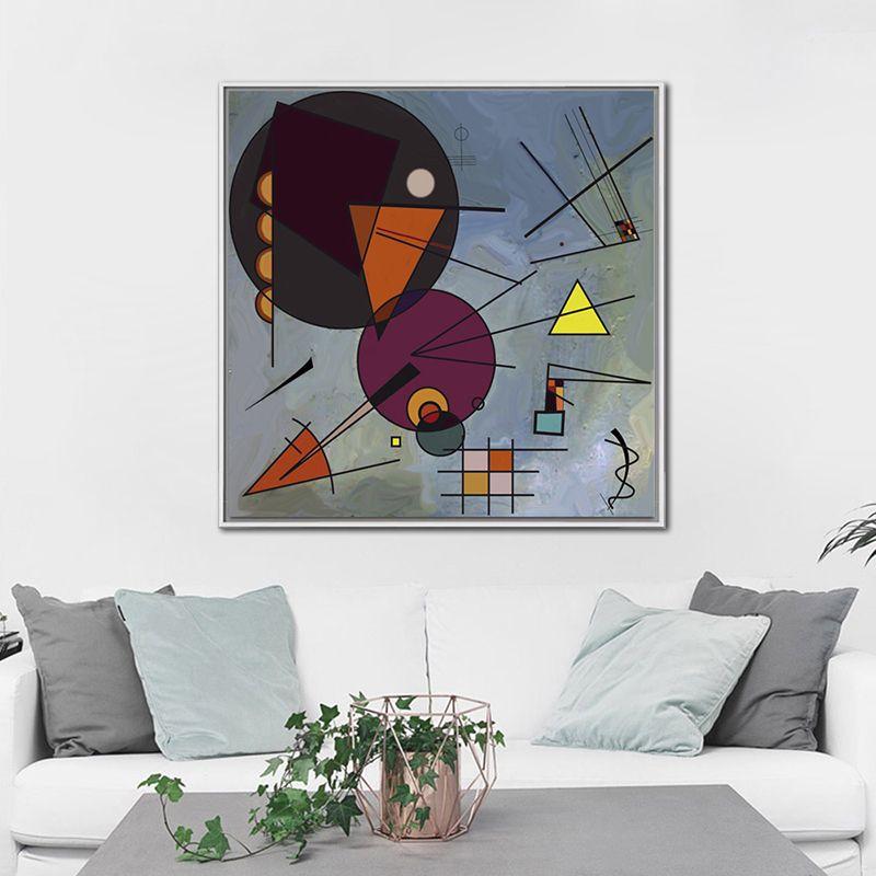WASSILY KANDINSKY dans le cercle noir (relation noire) affiche d'art classique toile peinture mur art photos pour salon
