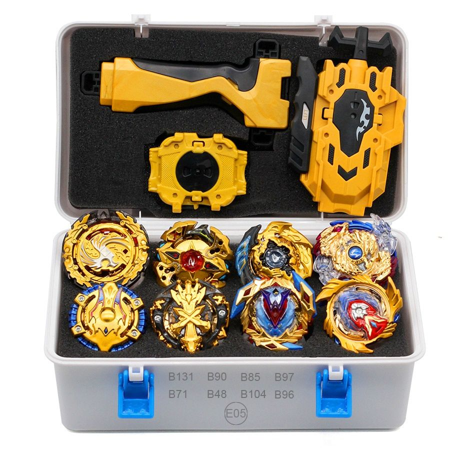 Gold Takara Tomy Launcher Beyblade Burst Arean Bayblades Bables Set  Box Bey Blade Toys For Child Beyblade Metal Fusion New Gift