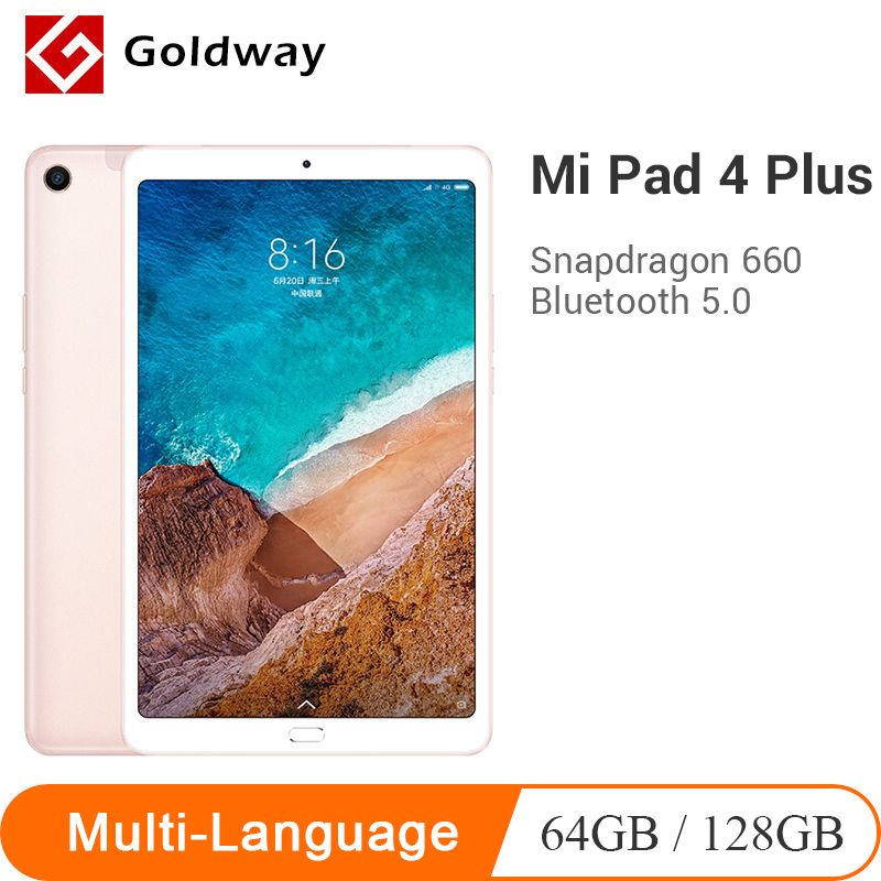 Neue Original Xiao mi mi Pad 4 Plus 64 GB/128 GB Tabletten 4 Snapdragon 660 AIE CPU 10,1 ''16:10 bildschirm Tablet 13MP 8620mAh mi Pad 4