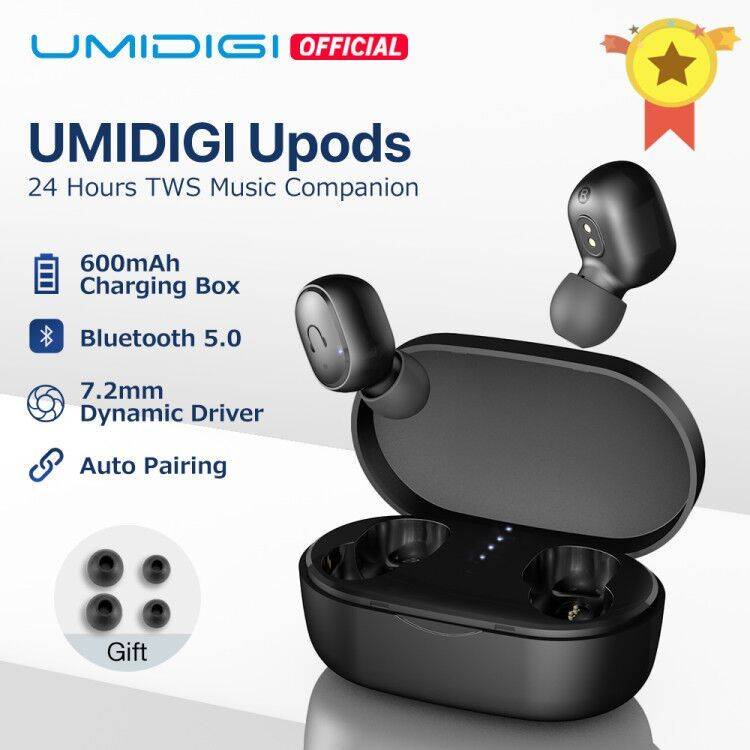 UMIDIGI Upods TWS Bluetooth 5.0  Wireless Earphone  Auto Pairing Noice Reduction with Charging box
