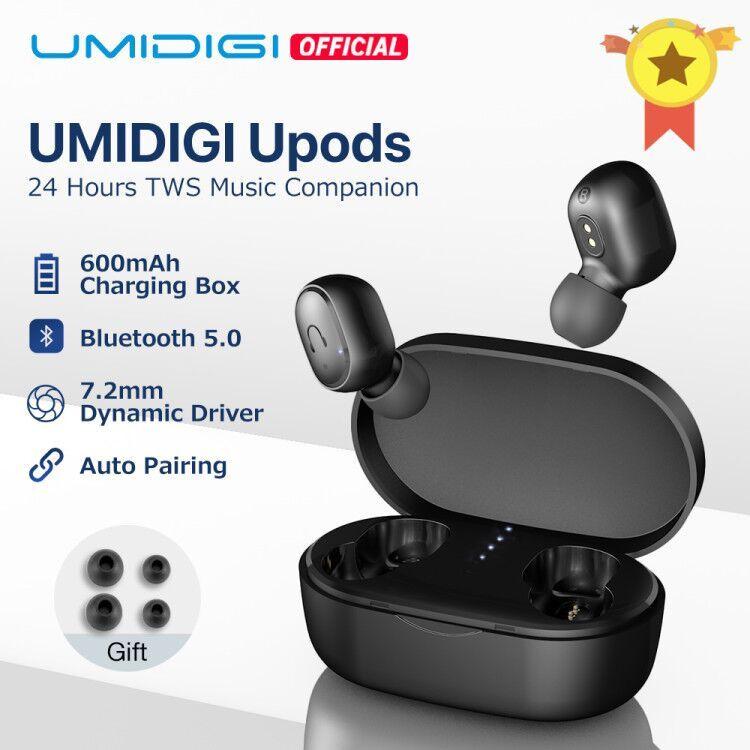 UMIDIGI Upods TWS Bluetooth 5.0 sans fil écouteur Auto appairage réduction de bruit avec boîte de charge