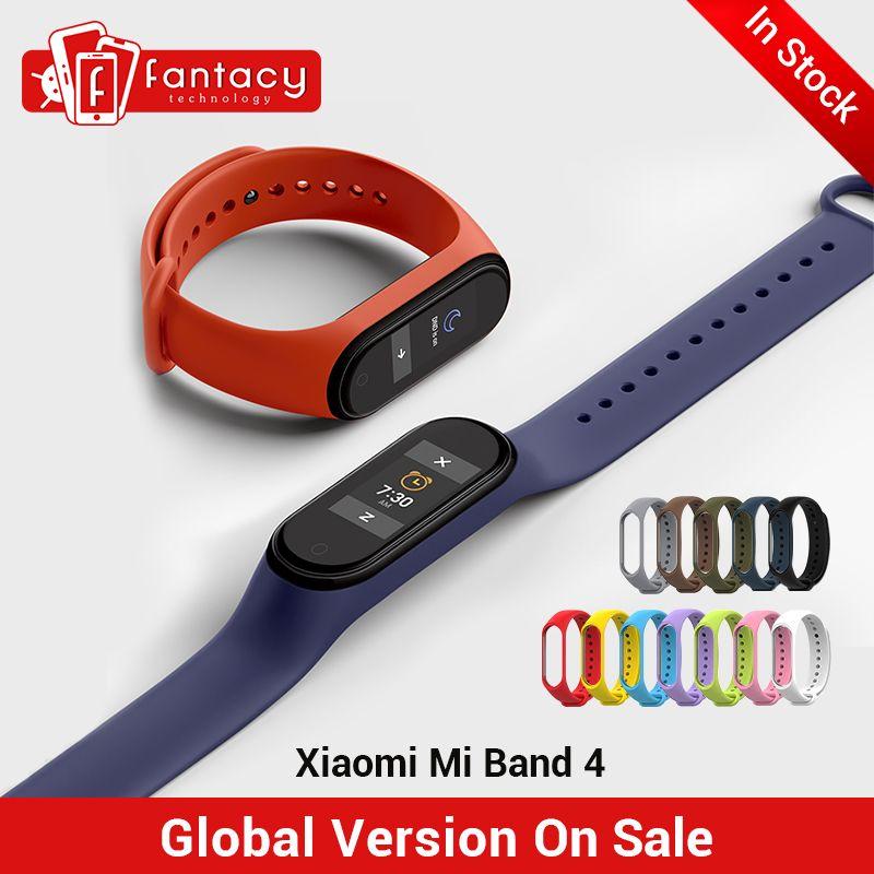 En Stock nouveau Xiao mi bande 4 Smart mi bande 4 0.95 AMOLED écran étanche fréquence cardiaque Fitness 135mAh 20 Bluetooth 5.0 50ATM