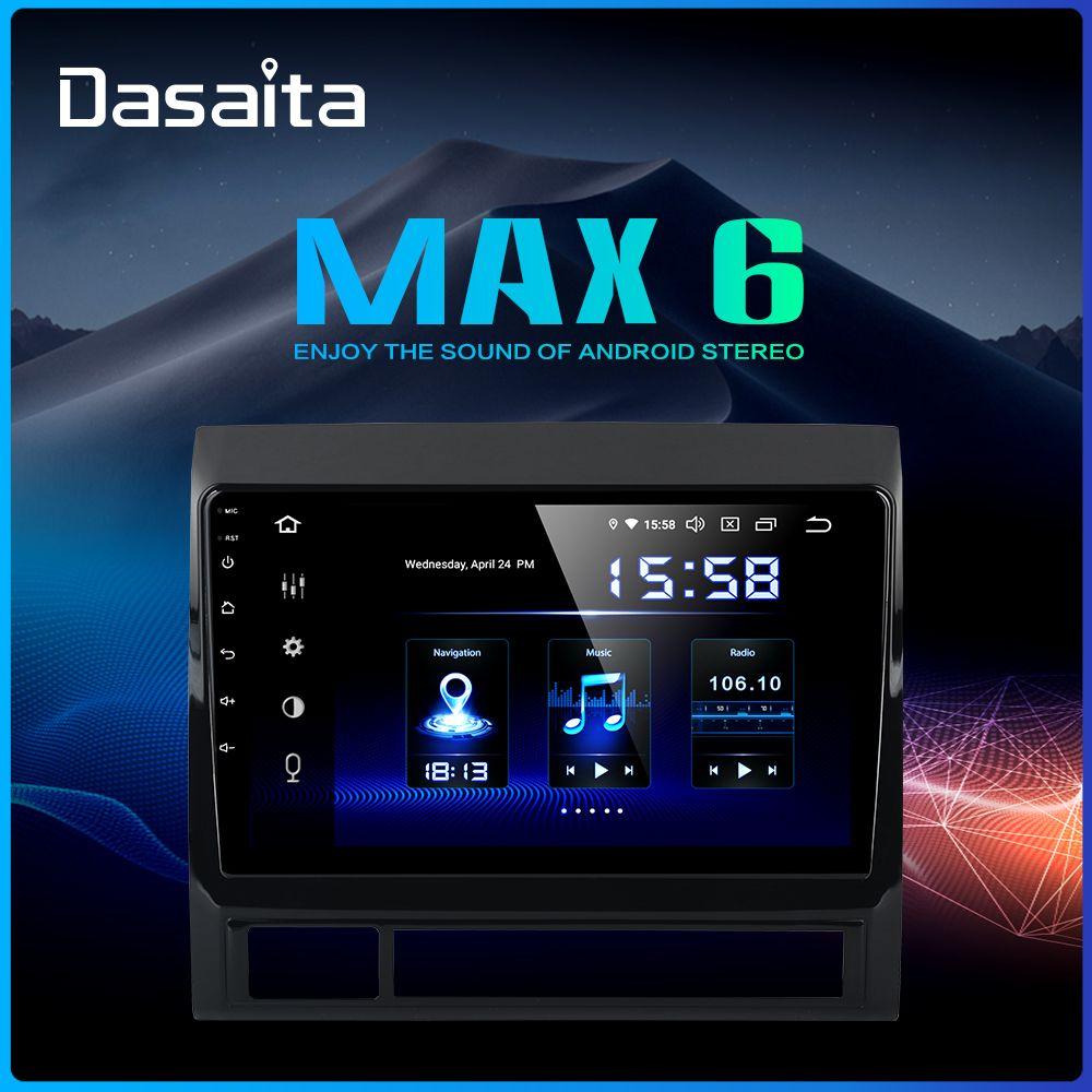 Dasaita 9 IPS Bildschirm Auto Radio Android 9.0 DSP 1 Din für Toyota Tacoma 2011 2012 GPS Navigation MP3 64G ROM 1080P Video MAX6