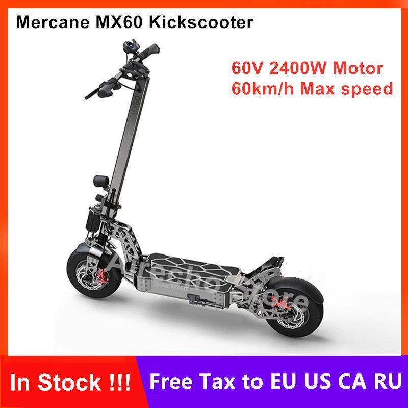 2019 neueste Mercane MX60 Kickscooter Smart Elektrische Roller 2400W 10/20AH 60 km/h 11 Reifen Dual Bremse faltbare Hover Skateboard