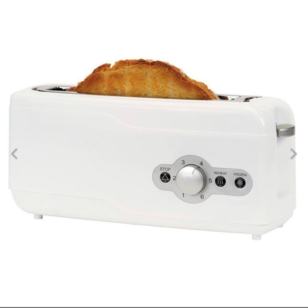 Grille-pain une large fente longue pain grille-pain fonction décongelée