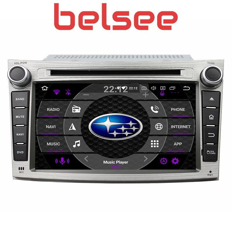Belsee Octa Core 4GB Android 9.0 Kopf Einheit Stereo Radio Bildschirm Auto GPS DVD Player Multimedia für Subaru Legacy Outback 2009-2014
