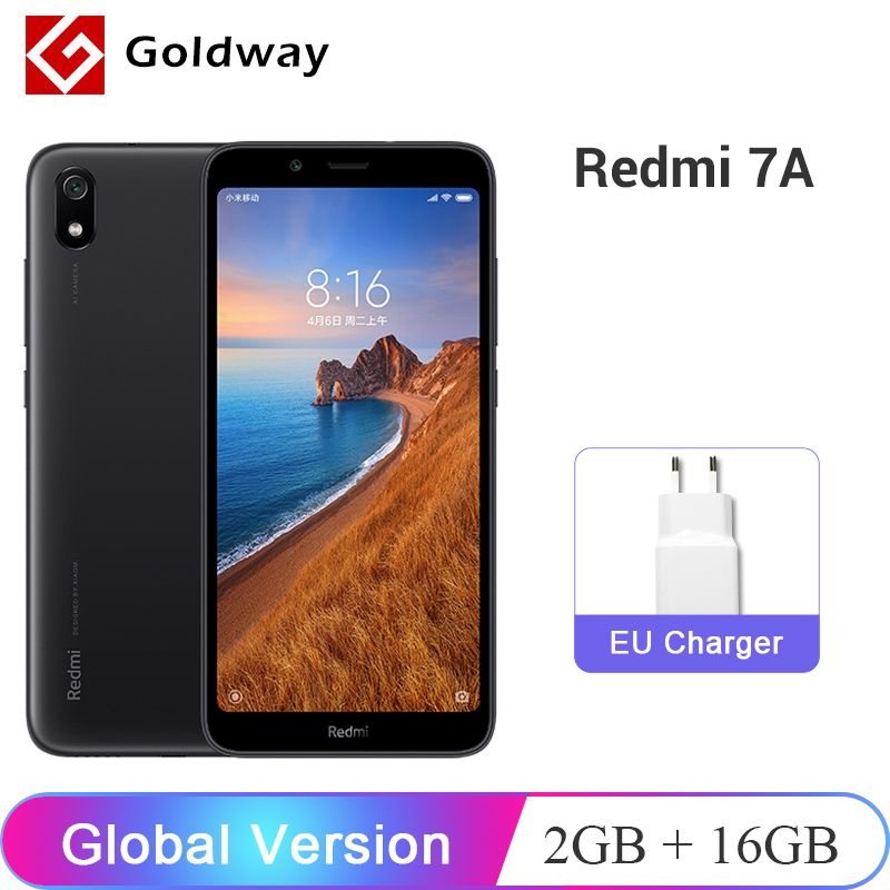 En Stock! Version globale Xiaomi Redmi 7A 7 A 2GB 16GB Smartphone 5.45 Snapdargon 439 Octa Core 4000mAh batterie 12MP caméra