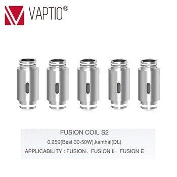 Replaceable coils FOR Fusion/Fusion 2/Fusion E vape kit Electronic Cigarette 10-50W COILS 0.25/0.5/0.8ohm coil atomizer head