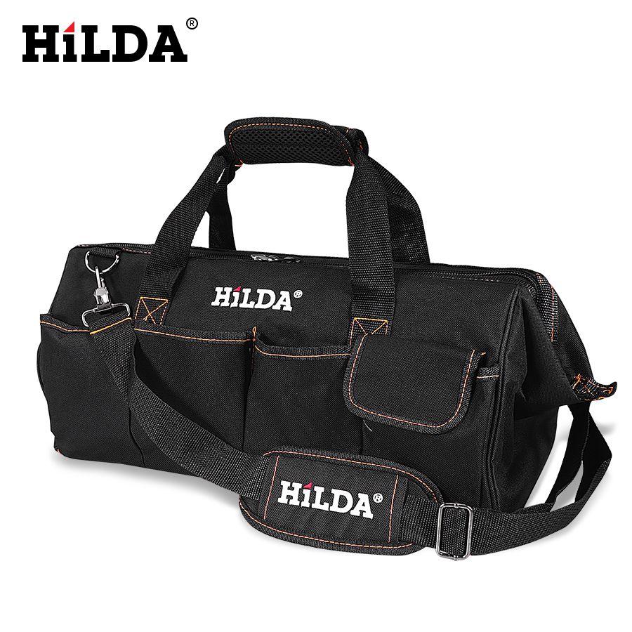 HILDA sacs à outils étanche hommes toile sac à outils électricien sac matériel grande capacité sac sacs de voyage taille 12 14 16 18 pouces