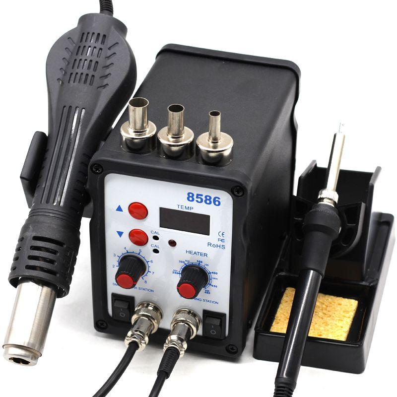 8586 SMD BGA reprise poste de soudure souffleur d'air chaud pistolet thermique détection intelligente et Air froid soudure fer à souder réparation outil