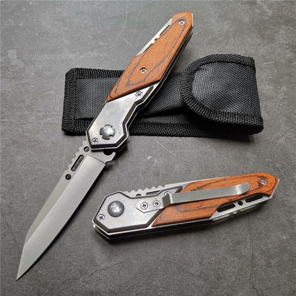 200mm (7.9 '') couteau 57HRC acier 5Cr15 lame pliante poche tactique survie Camping couteaux EDC outils tactiques couteaux