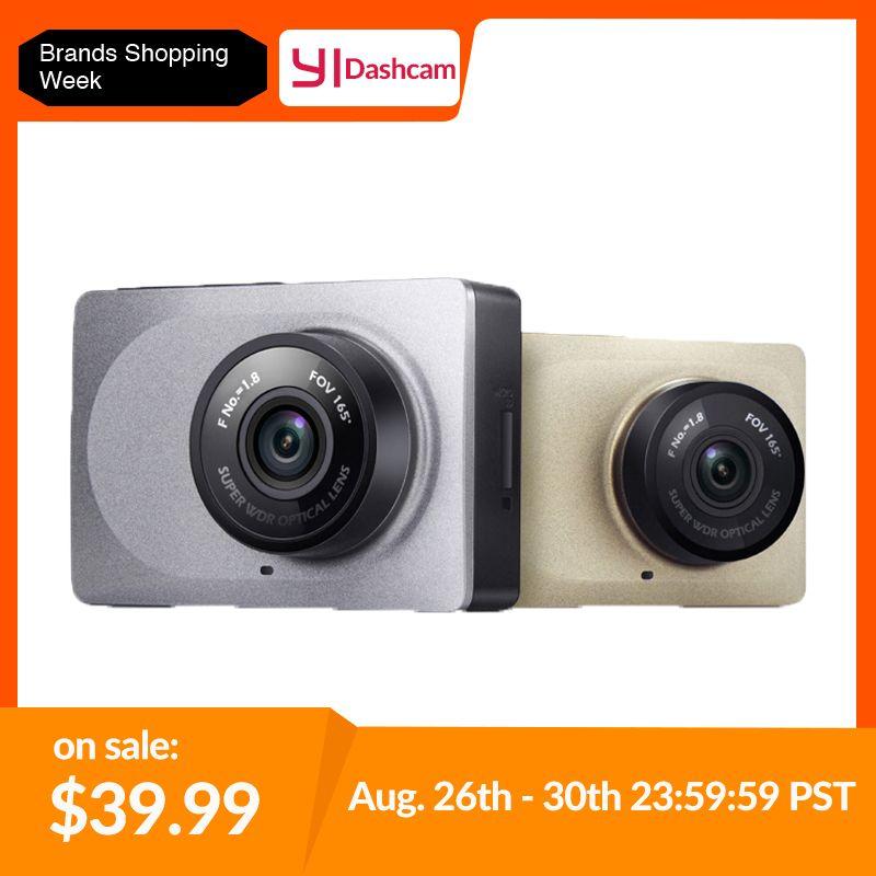 YI Smart Dash caméra enregistreur vidéo WiFi Full HD voiture DVR Vision nocturne 1080P 2.7 165 degrés 60fps caméra pour l'enregistrement de voiture