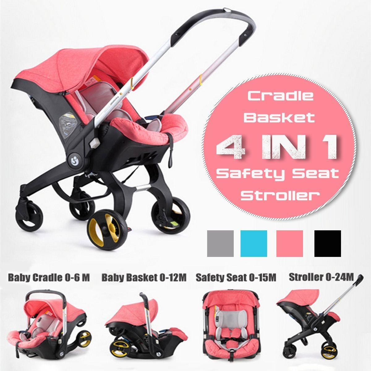 4 IN 1 Auto Sitz Kinderwagen Baby Wagen Korb Tragbare Travel System Kinderwagen mit Sicherheit Sitz für 0-3 jahre baby
