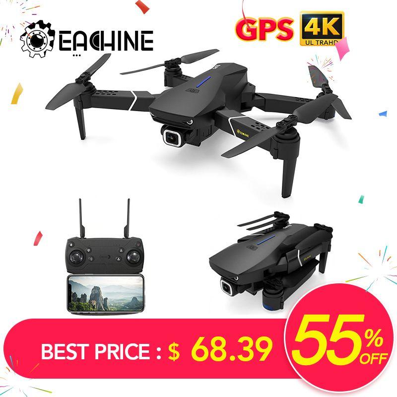 Eachine E520S GPS suivez-moi WIFI FPV quadrirotor avec 4 K/1080 P HD caméra grand Angle pliable maintien d'altitude Drone RC Durable