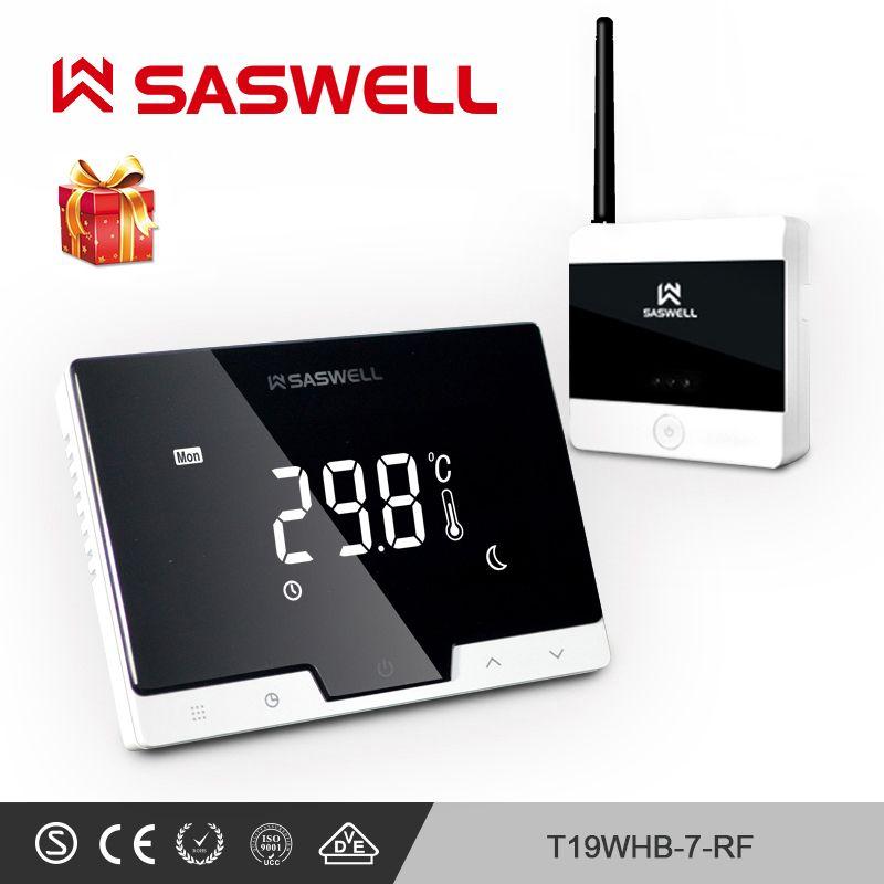 SASWELL Thermostat régulateur de température pour chaudière à gaz thermorégulateur hebdomadaire programmable