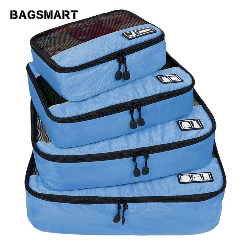 BAGSMART respirant 4 Set emballage Verpakking Cubes Reizen Bagage organisateur Cube ensemble Fit 23
