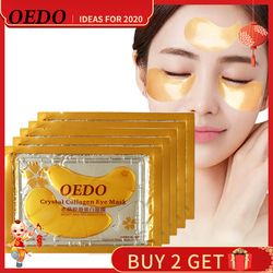 5PCS Anti-Aging Gold Crystal Collagen Eye Mask Skin Care Eye Patches Crystal Beauty Anti Dark Circle Anti-Puffiness Cream