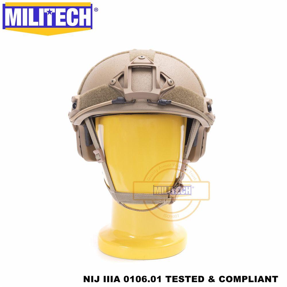 Casque balistique militaire rapide CB Deluxe cadran ver NIJ niveau IIIA 3A coupe haute certifié ISO casque pare-balles Twaron DEVGRU