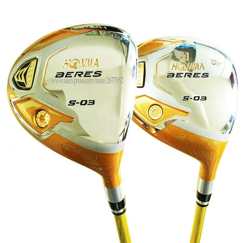 Nouveaux Clubs de Golf HONMA S-03 4 étoiles Golf Fairway bois 3/5 bois Graphite arbre R ou S Flex Golf bois couvre-chef Cooyute livraison gratuite