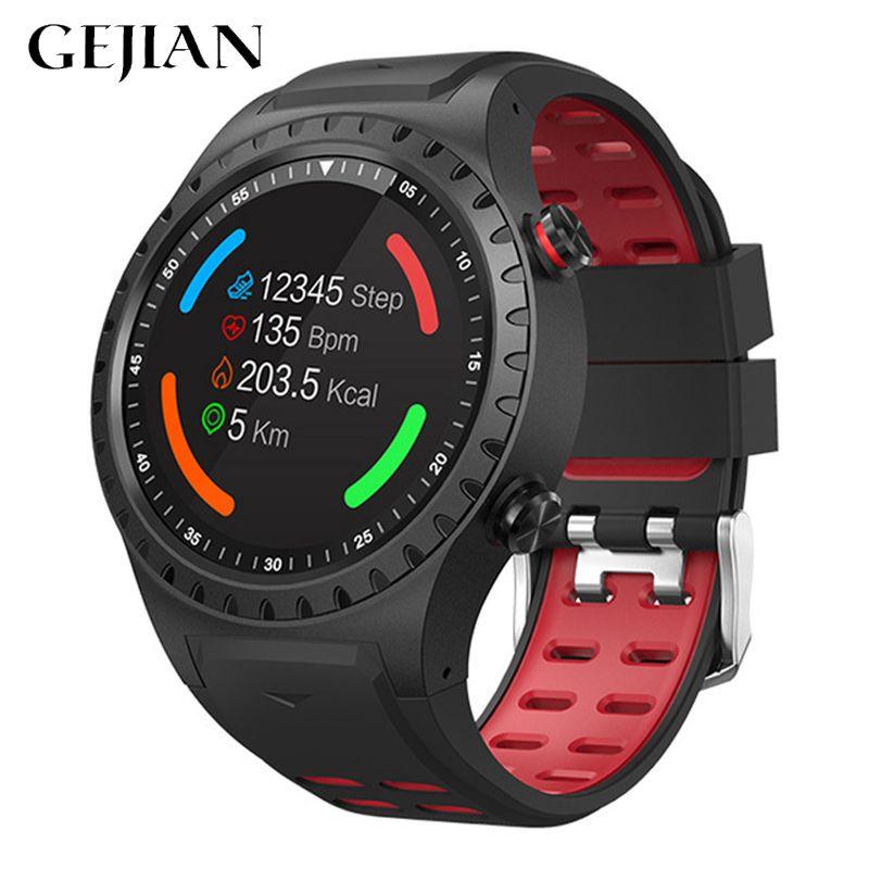 GEJIAN smart watch unterstützung Bluetooth telefon GPS kompass Smartwatch handy männer frauen wasserdicht heart rate monitor uhr