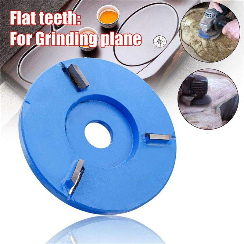 ASCENDAS 90Mm Arc/Flat Teeth Plane Wood Carving Disc Tool Milling Cutter For 16Mm Aperture Angle TN88 Plane three teeth