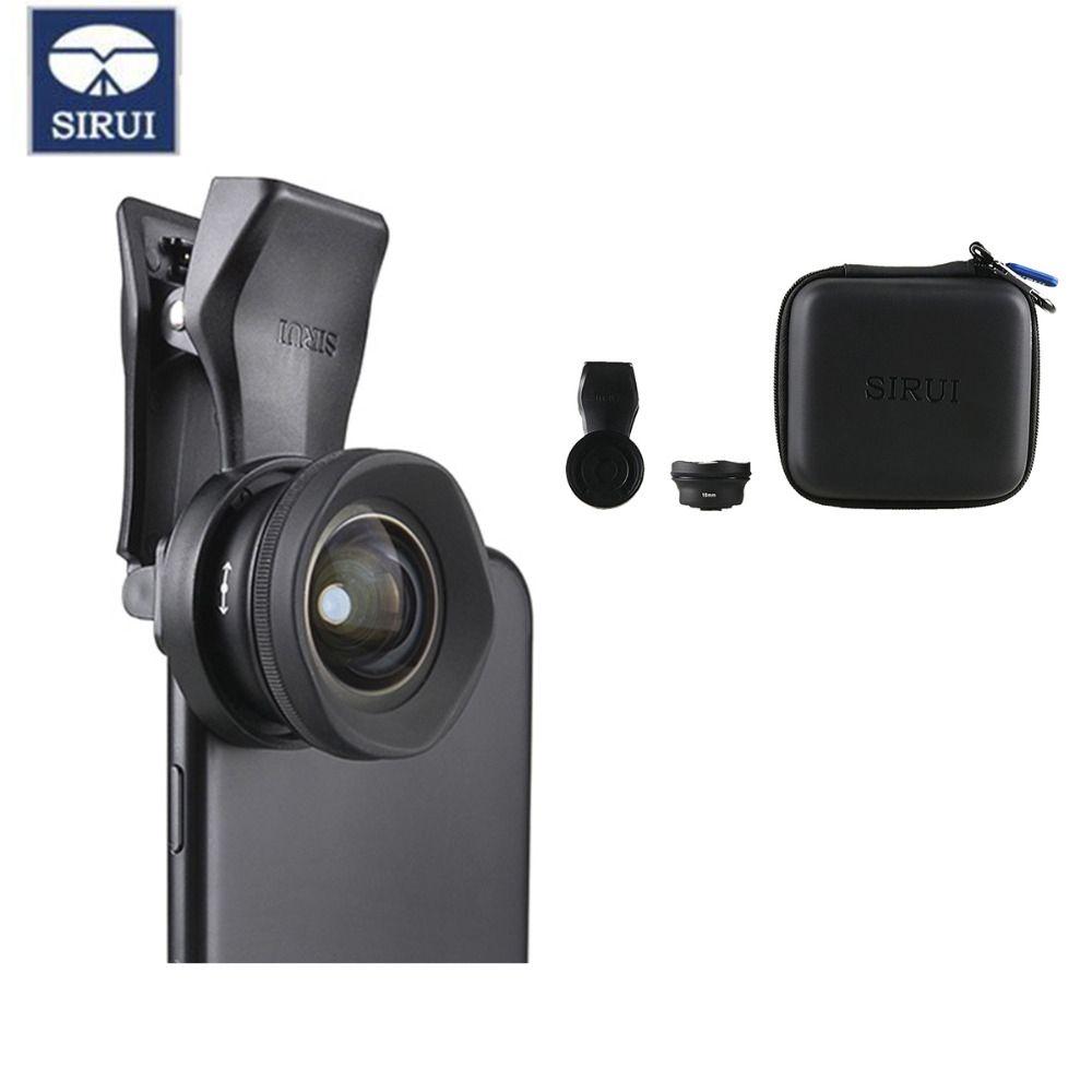 Sirui 18MM objectif téléphone grand Angle HD 4K objectif téléphone caméra 60MM téléobjectif pour iPhone Xs Max X 8 7 Huawei P20 Pro Samsung S8 S9