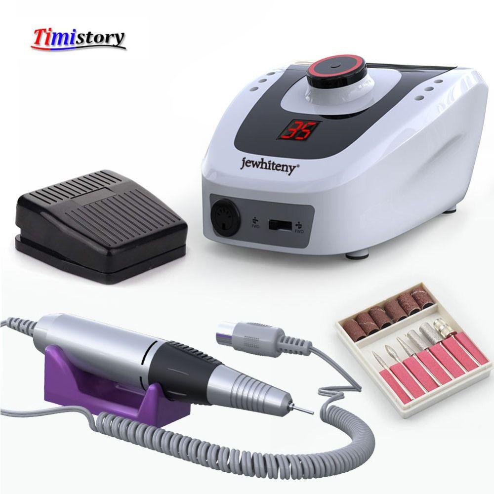Perceuse à ongles électrique 32W 35000 tr/min équipement d'art des ongles manucure Machine accessoire lime à ongles électrique outil de foret à ongles