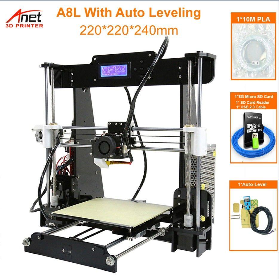 Heißer Verkauf Anet A8 3D Drucker Druck Größe 220*220*240mm Offline Druck Cura DIY Kit Mit 8GB Micro SD Kartenleser USB