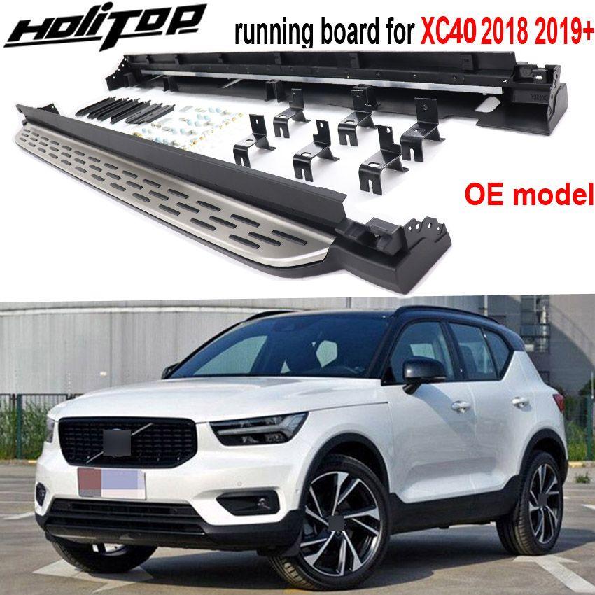 Neue Ankunft trittbrett nerf bar seite schritt für Volvo XC40 2018-2019 +. original stil mit verdicken & widen aluminium legierung pedal.
