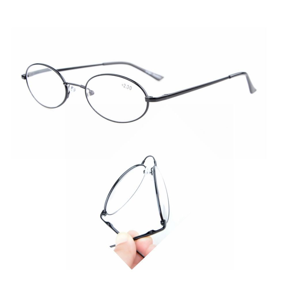 R1643 eye kepper titane mémoire pont printemps charnières ovale lunettes de lecture hommes femmes + 0.00 ---- + 4.00