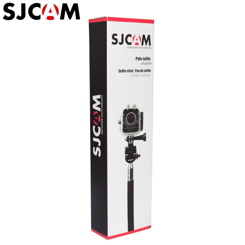 SJCAM aluminium portable extensible monopode Selfie bâton trépied pour SJ4000 SJ5000X Wifi Eken H9 Gopro Yi 4K sport Action caméra