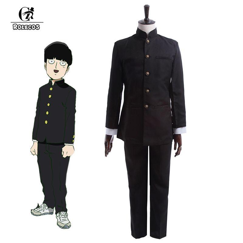 ROLECOS Anime Mob Psycho 100 Cosplay Costume Kageyama Shigeo Cosplay Costume japonais école garçon uniforme veste pantalon ensemble complet