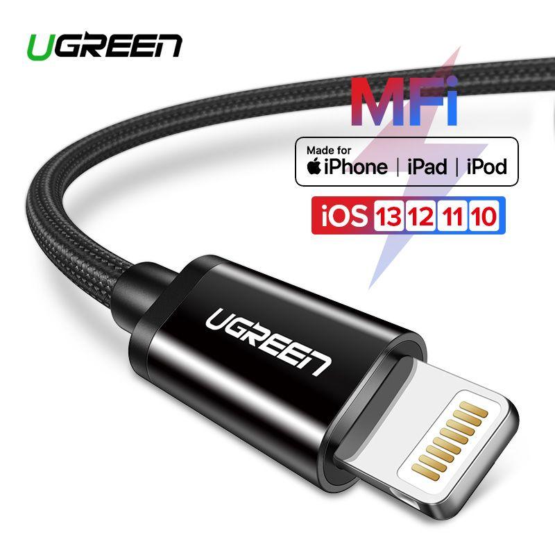 Câble USB Ugreen MFi pour iPhone 11 Pro X XS 8 2.4A câble de charge rapide pour iPhone 6 câble de données USB câble de chargeur de téléphone