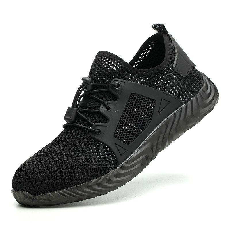 Chaussures de sécurité de travail avec embout en acier 2019 livraison directe femmes hommes bottes indestructibles Air léger résistant chaussures masculines 48