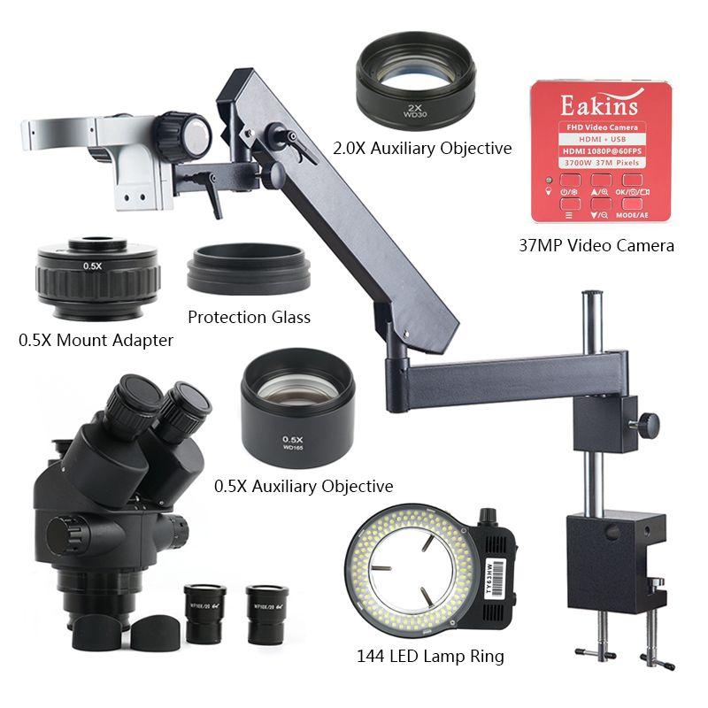3,5X7X45X90X37 megapixel HDMI USB Video Kamera Gelenk Arm Säule Clamp Simul- brenn Industrielle Trinocular Stereo Mikroskop