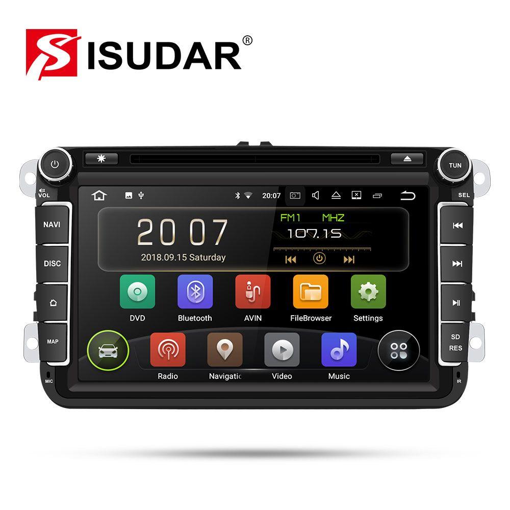 Isudar 2 Din Auto Radio Android 9 Für VW/Golf/Tiguan/Skoda/Fabia/Schnelle/Sitz /Leon Auto Multimedia Video Player GPS Navigation DVR