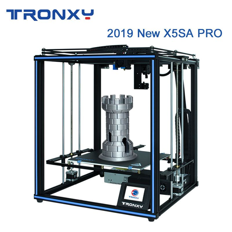 Tronxy 2019 Neueste X5SA Pro OSG Doppel Achse Externe Führungsschiene 3D Drucker Desktop DIY Kits Titan Extruder Druck TPU filament