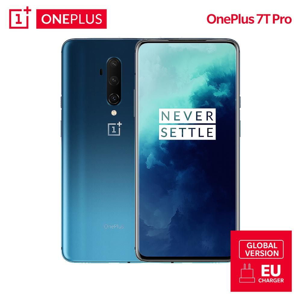 Globale Version OnePlus 7T Pro 8GB 256GB Snapdragon 855 Plus Smartphone 90Hz Display AMOLED 6,67 Zoll 48 MP 4085mAh UFS 3,0 NFC