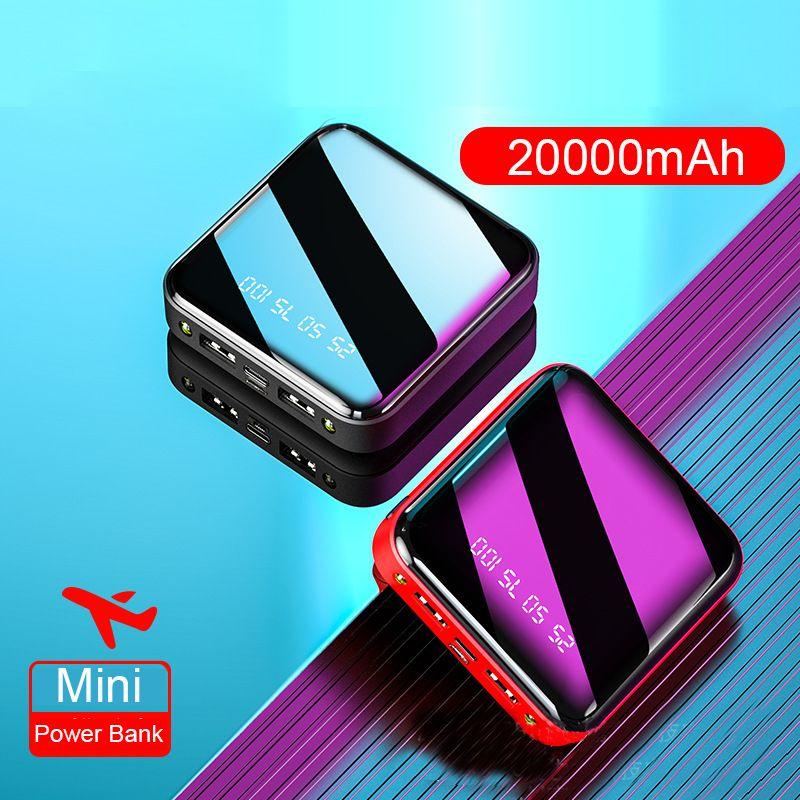 Mini batterie externe 20000mAh pour Xiao mi mi Powerbank Pover chargeur de banque double Ports Usb batterie externe appauvrisseur Portable