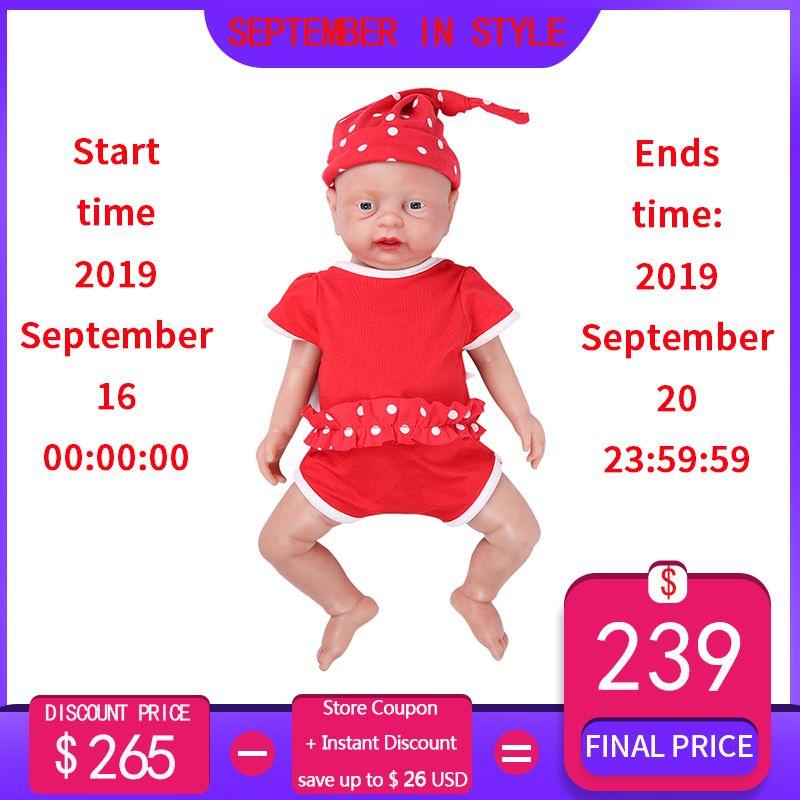 IVITA WG1502 46cm 3500g Reborn Baby Puppe Volle Silikon Körper Lebendig Babys Mädchen Augen Geöffnet Kann Nehmen Schnuller in Mund Kinder Spielzeug