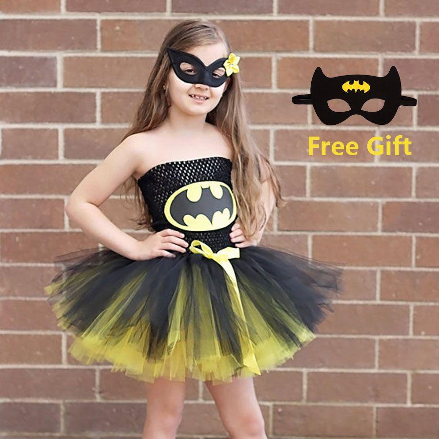 Batman enfants filles Tutu robe super-héros Halloween noël fête d'anniversaire Costume merveille femme Superman robe TS089