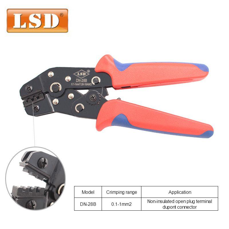 Outil de sertissage de DN-28B pour pince à sertir terminal Dupont KF2510 prise RD1-1 pince à sertir AWG28-18 0.1-1mm2 pince à sertir électricien
