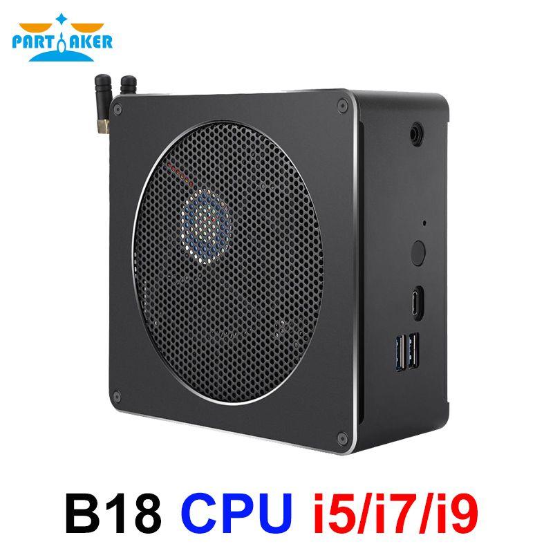 Teilhaftig B18 Intel i9 8950HK i7 8750H 6 Core 12 Threads Mini PC Windows 10 Pro DDR4 i5 8300H AC Wifi Desktop Computer HD Mini DP
