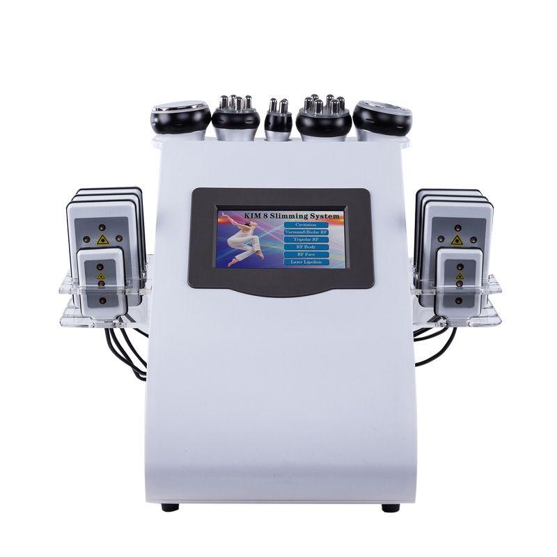 2019 neue Ankunft! 6 In 1 40K Ultraschall Kavitation Vakuum Radio Frequenz Laser 8 Pads lipo Laser Abnehmen Maschine für den heimgebrauch