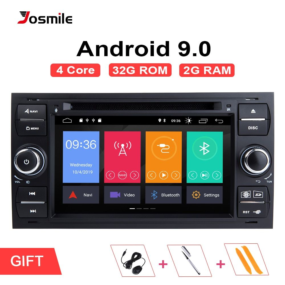 Android 9.0 2 din Auto Radio GPS DVD Für Ford Focus 2 Ford Fiesta Mondeo 4 C-Max S- max Fusion Transit Kuga Multimedia Navigation