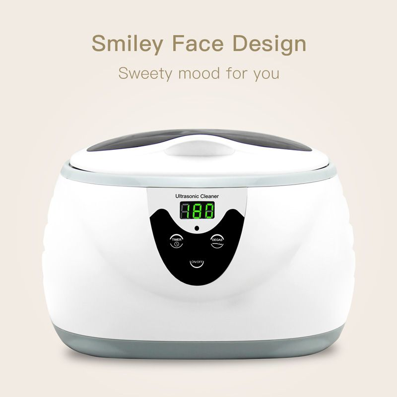 SKYMEN 600ml Ultrasonic Cleaner Manicure Tools Sonic Cleaning Jewelry Eyeglasses Denture Home Ultrasound Bath Washing Machine